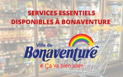 SERVICES ESSENTIELS À BONAVENTURE