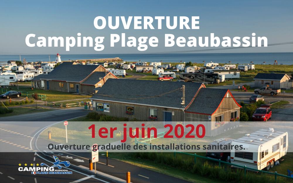 Ouverture du Camping Plage Beaubassin
