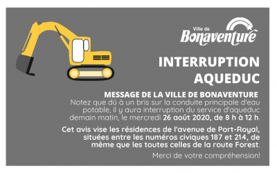 INTERRUPTION AQUEDUC