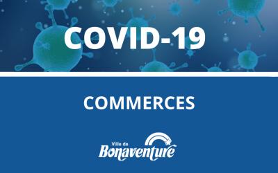 Commerces : services disponibles